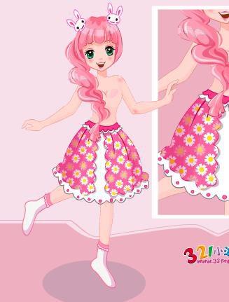 可爱小裙子一百画法